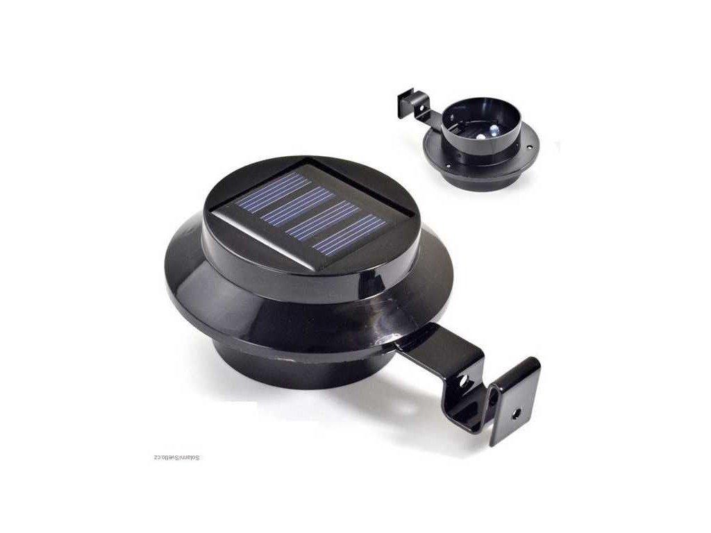Solární závěsné světlo černé 3xLED