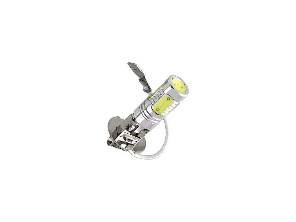 Žárovka LED H3 12V/7,5W, bílá (5x1,5W LED)