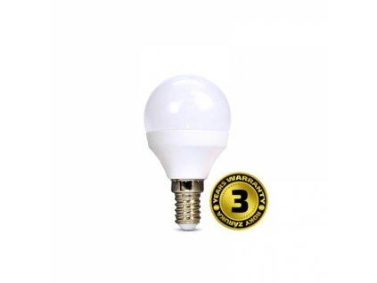 LED žárovka miniglobe 6W E14 6000K 450lm