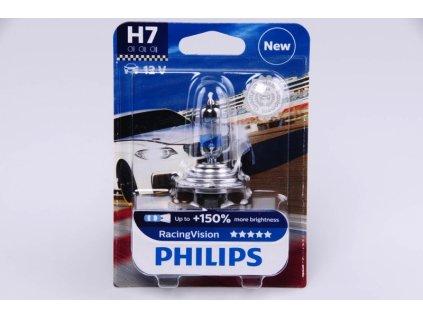 blistr H7 12V 55W PX26d Racing Vision PHILIPS - o 150% VÍCE SVĚTLA
