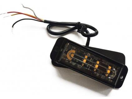 poziční stroboskopický maják, 4x LED, oranžový
