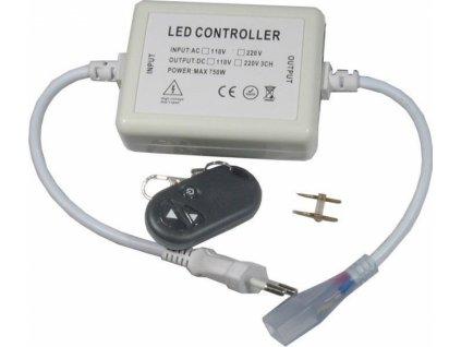 Napáječ s dálkovým ovládáním pro LED pásek 230V, výkon do 500W