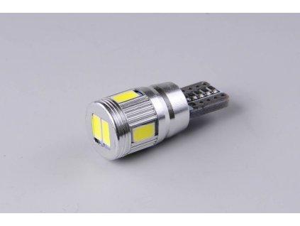 žárovka LED 12V 5W W2,1x9,5d čirá 6xSMD5630 CANBUS