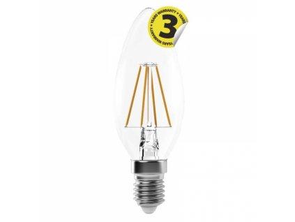 LED žárovka Filament Candle A++ 4W E14 neutrální bílá