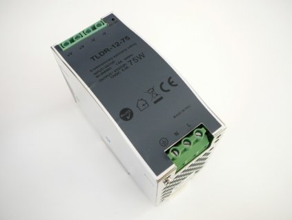 LED zdroj 12V 75W na DIN lištu - DIN lišta 12V 75W TLDR-12-75 zdroj vnitřní