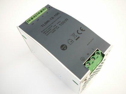 LED zdroj 12V 100W na DIN lištu - DIN lišta 12V 100W TLDR-12-100 zdroj vnitřní