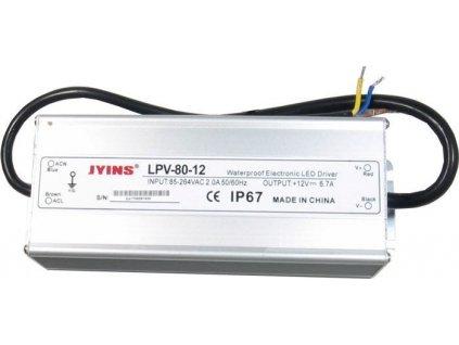 Zdroj - LED driver Jyins LPV-80-12, 12VDC/80W