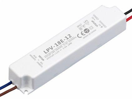 LED zdroj 12V 18W - LPV-18E-12 - 12V 18W zdroj IP67 LPV-18E-12