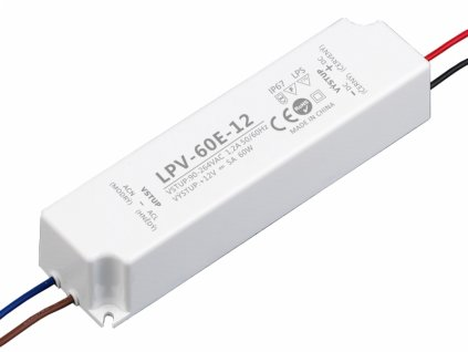 LED zdroj 12V 60W - LPV-60E-12 - 12V 60W zdroj IP67 LPV-60E-12