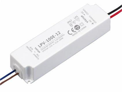 LED zdroj 12V 100W - LPV-100E-12 - 12V 100W zdroj IP67 LPV-100E-12