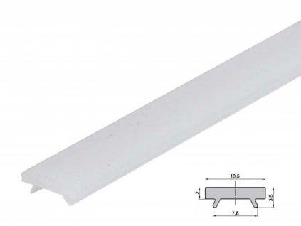 Difuzor pro ALU profil ST schodišťový - Nacvakávací opál 1m