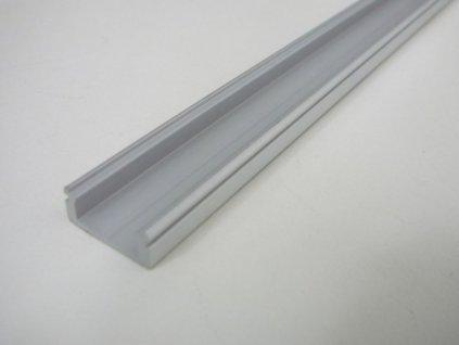 LED profil N8 - nástěnný stříbrný - Profil bez krytu 1m