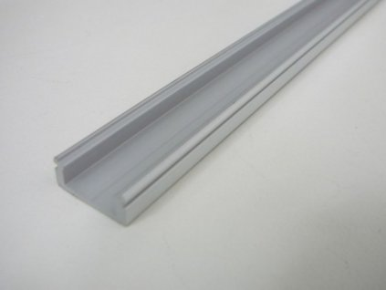 LED profil N8 - nástěnný stříbrný - Profil bez krytu 2m