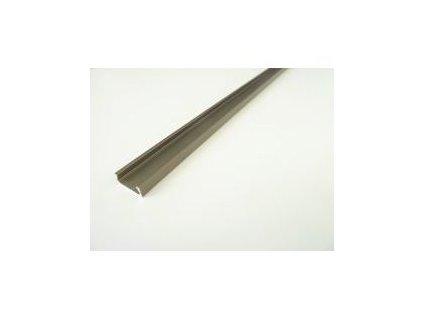 LED profil Mikro 2 bronzový - Profil bez krytu 1m