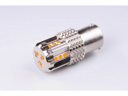 žárovka LED 12V 21W BAU15s oranžová CANBUS