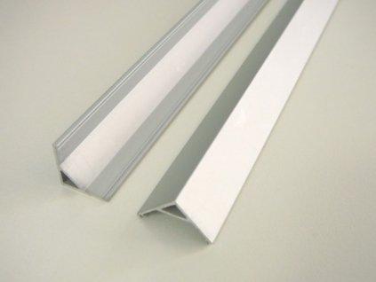 LED profil R5 - rohový - Profil bez krytu 2m