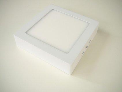 LED stropní svítidlo 12W přisazený čtverec 166x166mm - Studená bílá