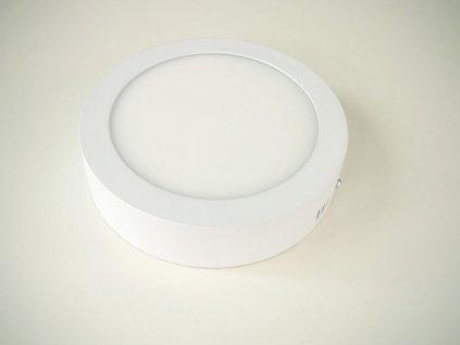 LED stropní svítidlo 12W přisazený kulatý 166mm - Studená bílá