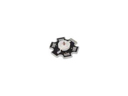 LED výkonová STAR červená Pmax: 3W 99,6÷113,6lm 130° 2÷3,25V