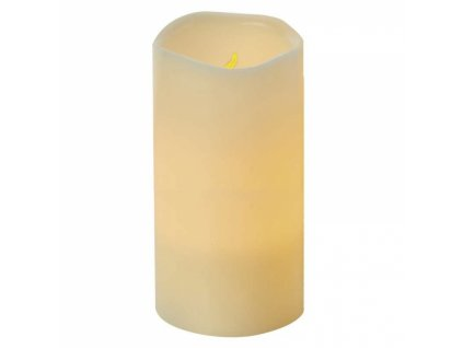 LED dekorace – vosková svíčka, 15cm, 3× AAA, časovač