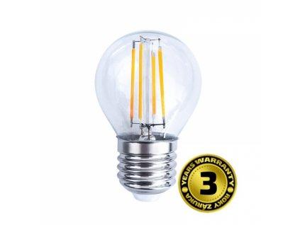 LED žárovka retro, miniglobe, 4W, E27, 3000K, 360°, 440lm