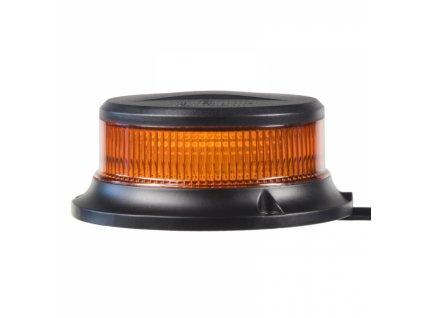 LED maják, 12-24V, 18x1W oranžový, pevná montáž, ECE R65