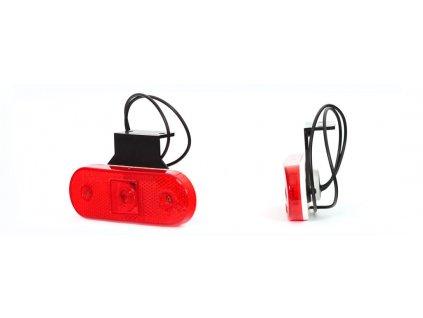 Světlo poziční W47 (230Z) LED 12+24V červené