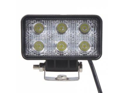 LED světlo 10-30V, 6x3W, R10, rozptýlený paprsek, 112x63x53mm