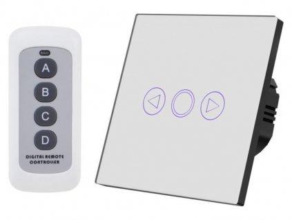 Stmívací vypínač osvětlení s dálkovým ovládaním, bílý