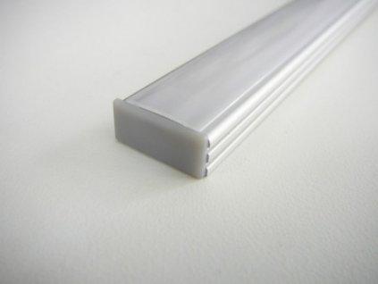 Koncovka LED profilu N2 plastová - Plná