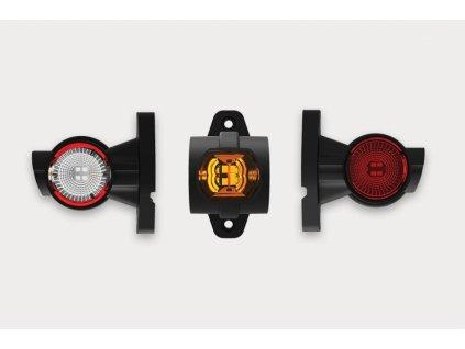 světlo poziční tykadlo LED FT-140A P 12+24V pravé krátké FRISTOM