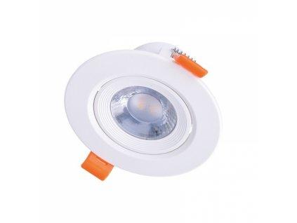 LED podhledové světlo bodové, 5W, 400lm, 4000K, kulaté, 38°, bílé