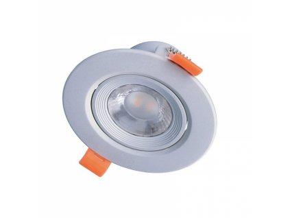 LED podhledové světlo bodové, 5W, 400lm, 4000K, kulaté, 38°, stříbrné