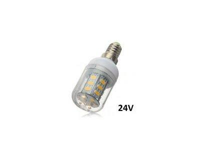 LED žárovka E14 24V DC 5W studená bílá