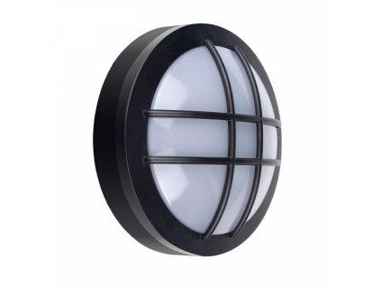LED venkovní osvětlení kulaté s mřížkou, 20W, 1500lm, 4000K, IP65, 23cm, černá