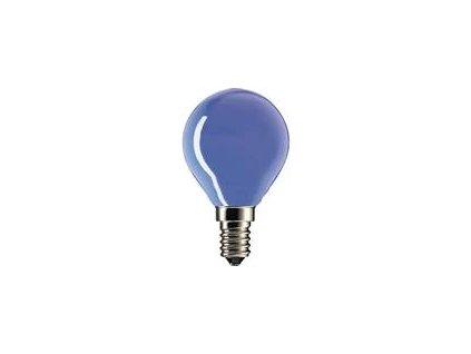 Barevná party žárovka E14 20W modrá