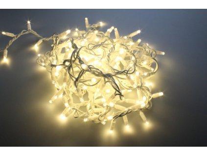 LED světelný řetěz 12W200 10m - Teplá bílá