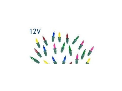 Vánoční žárovka barevná 12V nastrkávací