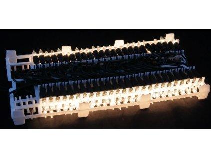 Tradiční žárovkové Vánoční osvětlení 50 žároviček teple bílá