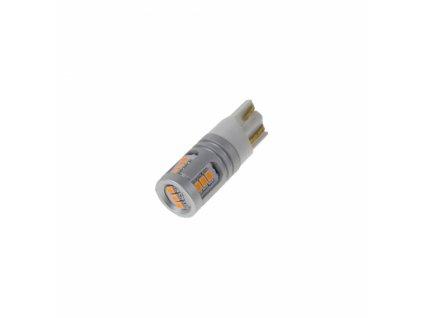 LED T10 oranžová, 12/24V, 15LED/1W SMD