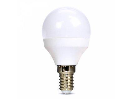 LED žárovka, miniglobe, 8W, E14, 3000K, 720lm, bílé provedení