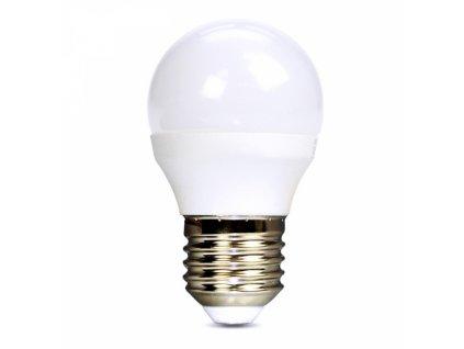 LED žárovka, miniglobe, 6W, E27, 3000K, 510lm