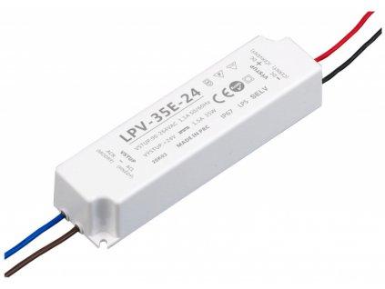 LED zdroj 24V 35W - LPV-35E-24 - 24V 35W zdroj IP67 LPV-35E-24