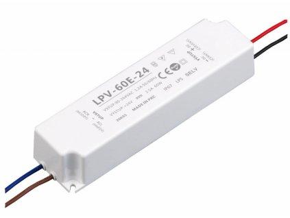 LED zdroj 24V 60W - LPV-60E-24 - 24V 60W zdroj IP67 LPV-60E-24