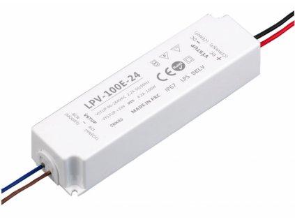 LED zdroj 24V 100W - LPV-100E-24 - 24V 100W zdroj IP67 LPV-100E-24