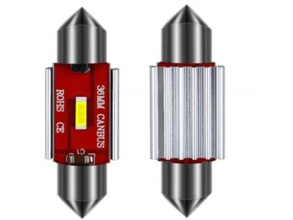 LED žárovka sufit 36mm studená bílá canbus 10W