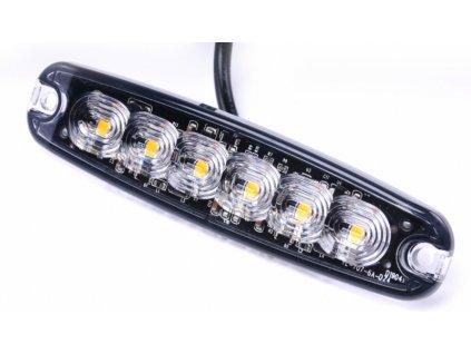 světlo výstražné LED oranžové PREDATOR 6*3W
