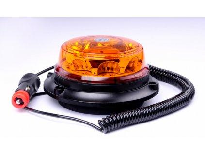 maják LED magnetický 12V-24V oranžový 8 LED*3W