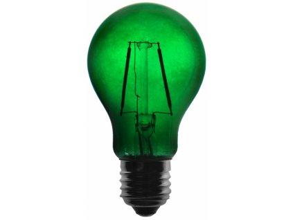 Žárovka LED FILAMENT A60, 36V ss., zelená
