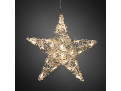 Hvězda 5 cípá 6102-103, 24 LED teple bílá, průměr 40 cm